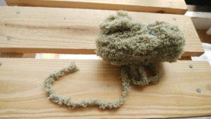 毛糸シャギーモスグリーン