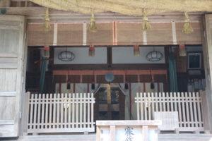 丹生川上神社下社拝殿